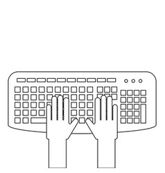 user with keyboard icon vector image