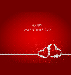 valentines day abstract background with heart vector image