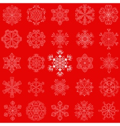 Vintage snowflake set in entangle style 25 vector