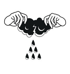 where do rain come from vector image