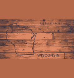 Wisconsin map brand vector