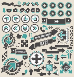 Arrow icons vector