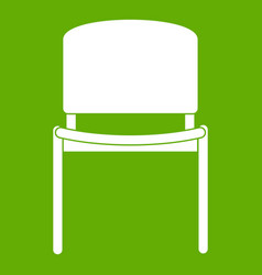 black office chair icon green vector image