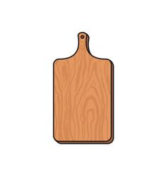 ector wooden sketch cartoon cutting board isolated vector image