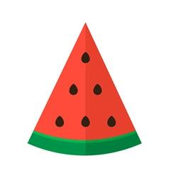 Flat design slice of watermelon vector image vector image