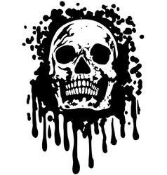 grungeSkull vector image vector image