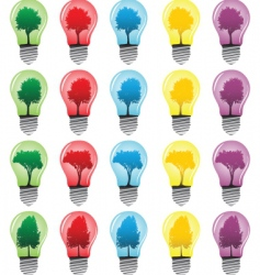 light bulbs with tree vector image
