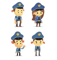 police officers vector image vector image