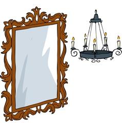 baroque furniture vector image vector image