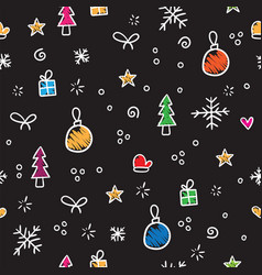 christmas pattern snowflake decoration and vector image