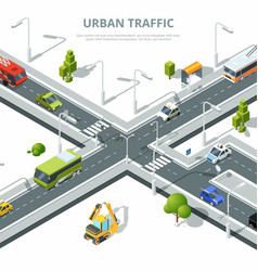 city crossroad of urban traffic vector image