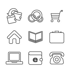 E-commerce thin line icons set vector image vector image