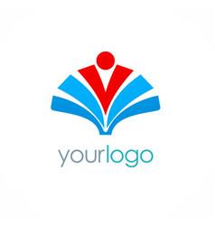 education book logo vector image