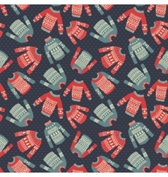 sweater dotted pattern vector image vector image