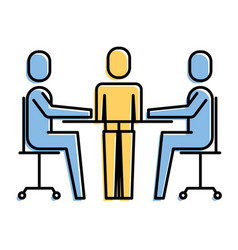teamwork meeting office people together vector image
