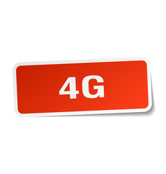 4g square sticker on white vector image vector image
