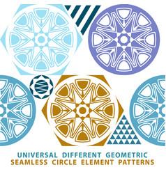 indigo blue flower azulejos pattern lisbon set vector image