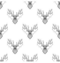 Magic reindeer seamless pattern vector image