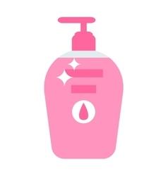 Plastic Bottle with liquid soap flat vector image