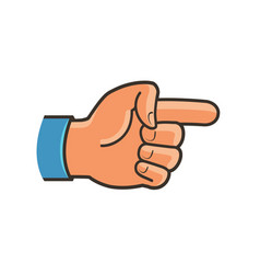 pointing hand symbol forefinger index finger vector image
