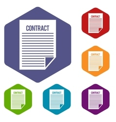 Contract icons set vector image