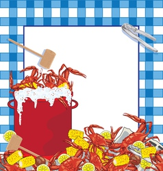 Crab Boil party invitation vector image vector image