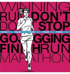 Female runner sketch vector image vector image