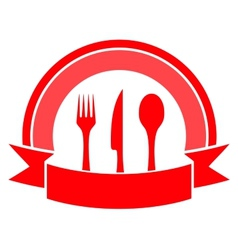 food icon on white background vector image