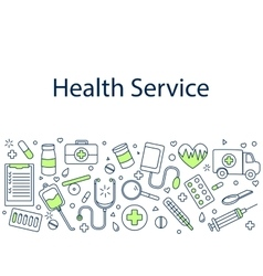 Health service banner vector image vector image