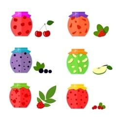 Jam in Jar Set vector image