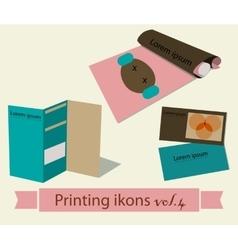 Print icons set4 vector image