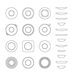 Abstract of dishes vector image