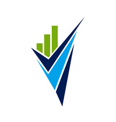 Accounting tax financial business logo design vector