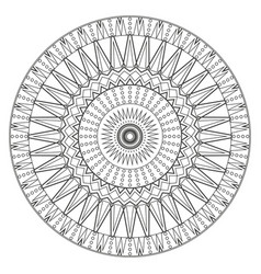 ancient mandala coloring page for adults on vector image