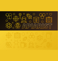 apiarist colored horizontal vector image