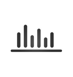 Bar chart bussiness financial icon isolated on vector