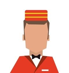 Bellboy or bellhop icon vector