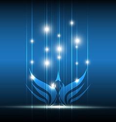 bird symbolic design vector image vector image