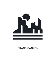 Black grand canyon isolated icon simple element vector