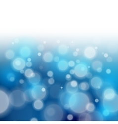Blue bokeh abstract light backgrounds vector