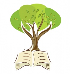 Book with tree vector