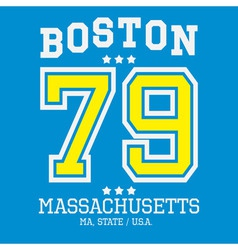 Boston Sport Team T-shirt Typography vector image vector image