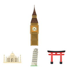 building interesting place tower countries vector image