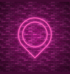 bulb glowing neon ring lamp sign vector image