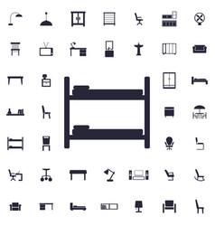 Bunk bed icon vector
