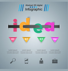 Business idea infographics origami style vector