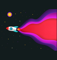business start up concept with speed rocket vector image
