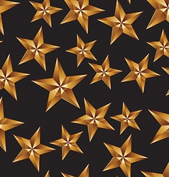 Celebration idea background pentagonal golden vector