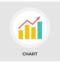 Chart flat single icon vector image