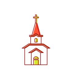 church sign catholic christian house religion vector image